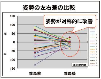 姿勢の左右差の比較
